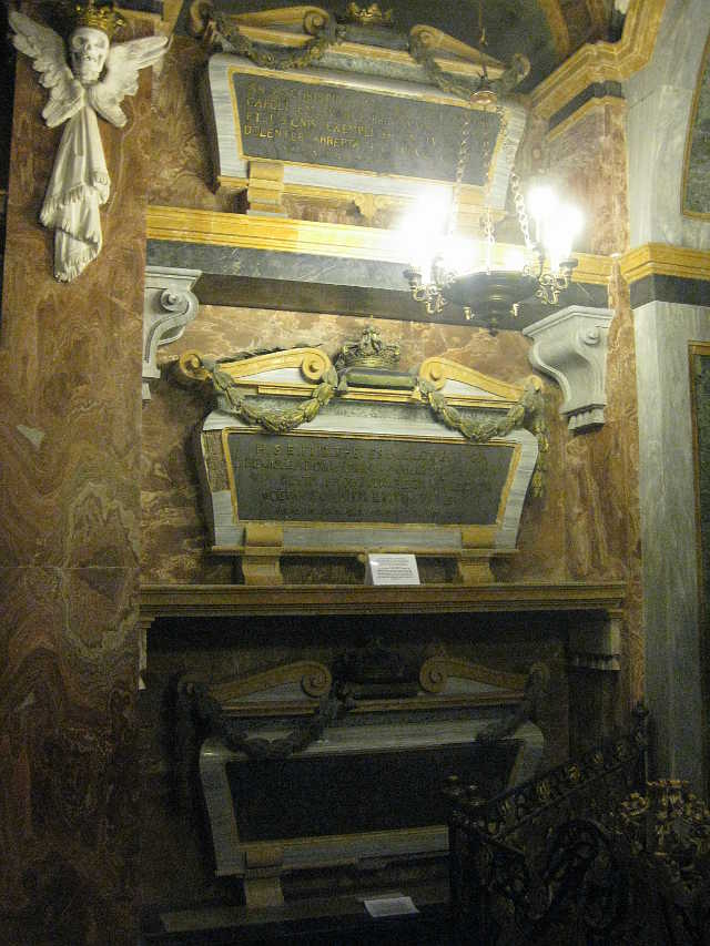Tombs of the wives of King Charles Emanuel III of Sardinia
