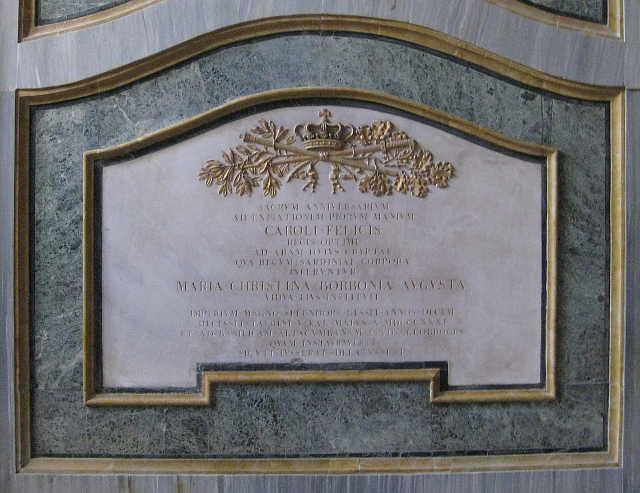 Monument to King Charles Felix of Sardinia